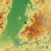 Nearby Forecast Locations - Freiburg - Map