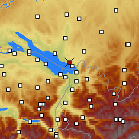 Nearby Forecast Locations - Lake Constance - Map