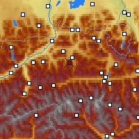 Nearby Forecast Locations - Hahnenkamm - Map