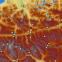 Nearby Forecast Locations - Bischofshofen - Map