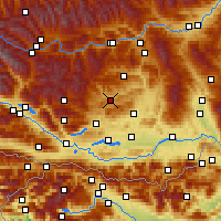 Nearby Forecast Locations - Weitensfeld - Map