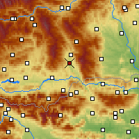 Nearby Forecast Locations - Sankt Andrä - Map