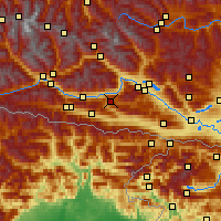 Nearby Forecast Locations - Weissensee - Map