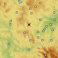 Nearby Forecast Locations - Přimda - Map