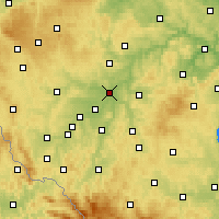 Nearby Forecast Locations - Plzeň - Map
