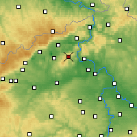 Nearby Forecast Locations - Milešovka - Map