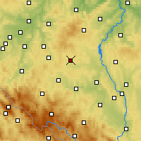 Nearby Forecast Locations - Kocelovice - Map