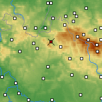 Nearby Forecast Locations - Liberec - Map