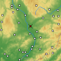 Nearby Forecast Locations - Přerov - Map