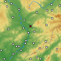 Nearby Forecast Locations - Holešov - Map