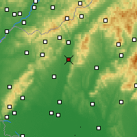 Nearby Forecast Locations - Piešťany - Map