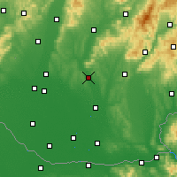 Nearby Forecast Locations - Nitra - Map