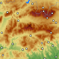 Nearby Forecast Locations - Chopok - Map