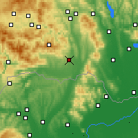 Nearby Forecast Locations - Košice - Map