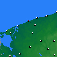 Nearby Forecast Locations - Niechorze - Map
