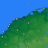 Nearby Forecast Locations - Ustka - Map