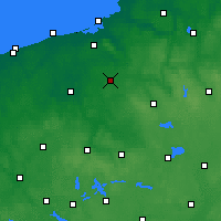 Nearby Forecast Locations - Zegrze Pomorskie - Map