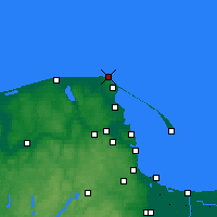 Nearby Forecast Locations - Cape Rozewie - Map