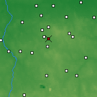 Nearby Forecast Locations - Łódź - Map