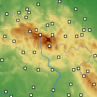 Nearby Forecast Locations - Sněžka - Map