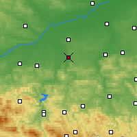 Nearby Forecast Locations - Tarnów - Map