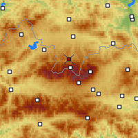 Nearby Forecast Locations - Zakopane - Map