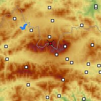 Nearby Forecast Locations - Kasprowy Wierch - Map
