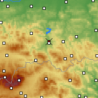 Nearby Forecast Locations - Nowy Sącz - Map