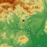 Nearby Forecast Locations - Jósvafő - Map