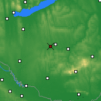 Nearby Forecast Locations - Kaposvár - Map