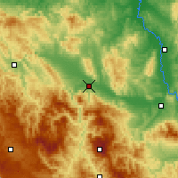 Nearby Forecast Locations - Kraljevo - Map