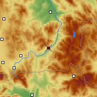 Nearby Forecast Locations - Vranje - Map