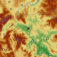 Nearby Forecast Locations - Skopje - Map