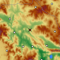 Nearby Forecast Locations - Štip - Map