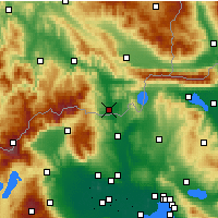 Nearby Forecast Locations - Gevgelija - Map