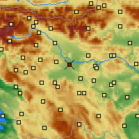 Nearby Forecast Locations - Ljubljana - Map