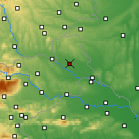 Nearby Forecast Locations - Murska Sobota - Map