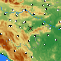 Nearby Forecast Locations - Novo Mesto - Map