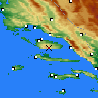 Nearby Forecast Locations - Brač Airport - Map