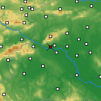 Nearby Forecast Locations - Zagreb Gric - Map