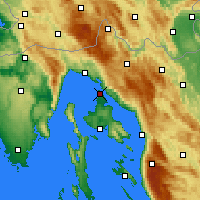 Nearby Forecast Locations - Omišalj - Map