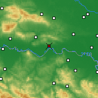 Nearby Forecast Locations - Slavonski Brod - Map