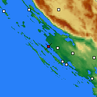 Nearby Forecast Locations - Zadar - Map