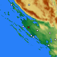 Nearby Forecast Locations - Zemunik Donji - Map