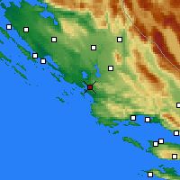 Nearby Forecast Locations - Šibenik - Map