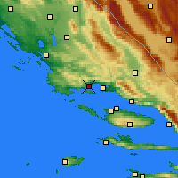 Nearby Forecast Locations - Kaštela - Map