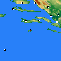 Nearby Forecast Locations - Lastovo - Map
