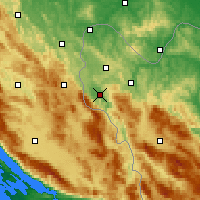 Nearby Forecast Locations - Bihać - Map