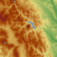 Nearby Forecast Locations - Ceahlau Toaca - Map