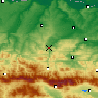 Nearby Forecast Locations - Lovech - Map